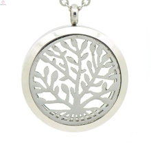 Top selling stainless steel perfume locket,essential oil necklace,tree of life locket