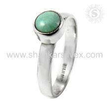 Scrumptious Turquoise Gemstone Silver Ring atacado 925 Sterling Silver Jewelry Handmade on-line Prata Jóias
