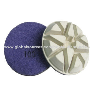 Resin polishing pad, dry use for concrete