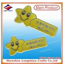 Metal Printing Name Badge Gold Safety Pin Name Badges