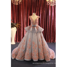 Lace Beading Organza Ball Party Prom Evening Gown Dress