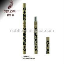 New design Leopard Aluminum eyebrow container/tube