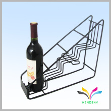 New style factory directly sale wire black display wine rack supermarket