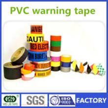 Fita de PVC para impressão de advertência, fabricada na China com cores diferentes