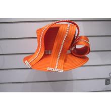 Chapeaux formels de l'église de ruban de satin de mode