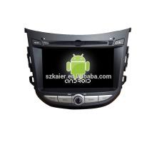 Quad core! Dvd do carro com link espelho / DVR / TPMS / OBD2 para 7 polegadas tela sensível ao toque quad core 4.4 sistema Android HYUNDAI HB20