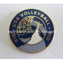 Pin métallique pour Rio USA Volleyball (badge-002)