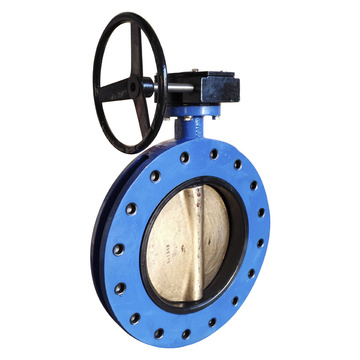 U Section Flanged Butterfly Valve with Gear Operator