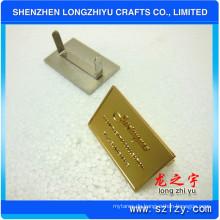 Rechteckige geprägte Logo Reversplatte für Handtaschen (LZY-000202003)