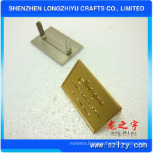 Rectangular Embossed Logo Lapel Plate for Handbags (LZY-000202003)