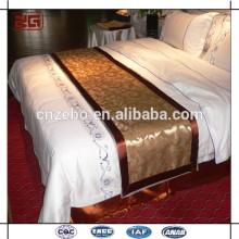 Bufanda de la cama del hotel de la alta calidad Textile, corredor de la cama, sistema de la ropa de cama