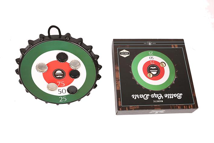 Magnetic bottle dartboard