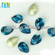 pierre de cz en forme de poire bleue magnétiquement fantaisie pour la pierre gemme