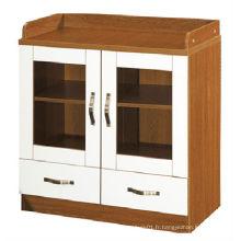 2015 nouveau bureau de design armoire en bois à 2 tiroirs avec serrure (KB201-1)