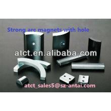 Segment Bogen Magnet mit Schraubloch für Motor, Generator