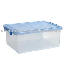 прозрачный портативный большой размер пластиковые ящик для хранения перегородки для 2017