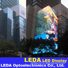 Outdoor Curtain LED Display Screen, Outdoor Building Transparent Curtain LED Display