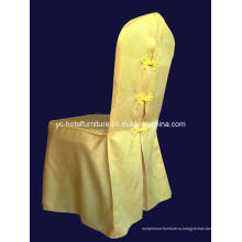 Элегантная гладкая юбка-накидка для стула (FCX-285)