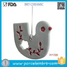 Керамическая изготовленная на заказ белая и Красная птица украшения Рождественский Декор
