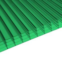 Hoja de policarbonato de 4 paredes para la decoración de la claraboya 10 años de garantía Diferentes colores