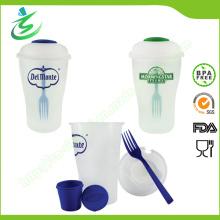 Salat Shaker Cup für den Einzelhandel, BPA Free Plastic Neu