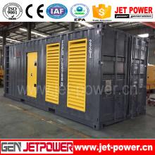 Gerador diesel silencioso do recipiente de 600kw 750kVA CUMMINS
