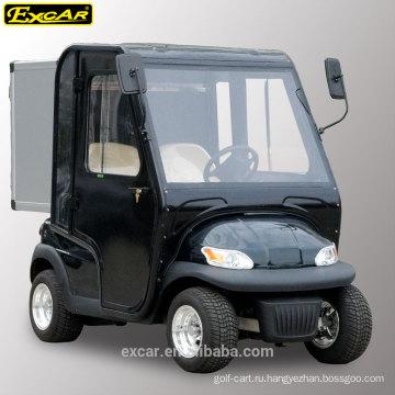 EXCAR 2 мест электрический гольф-кары с дверями отеля утилита багги