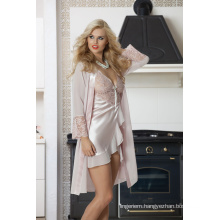 2017 Fashion Babydoll Robe 2 piece Set