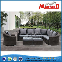 Ensemble de sofa confortable de conception de jardin de rotin
