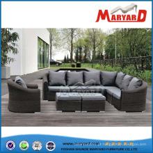 Conjunto de sofá de design de jardim de Rattan confortável