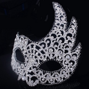 Atacado Rhinestone Masquerade Queen Crowns