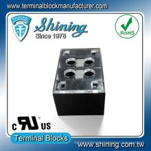 TB-31502CP 2 Pole 300V 15A Double Row Terminal Block Connector