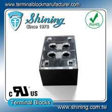 TB-31502CP 2 Pole 300V 15A Conector de bloco de terminais de linha dupla