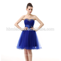 Online shopping women party wear short skirt evening dress Royal blue Bridal Elegant korean evening dress