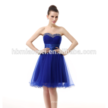 Online-Shopping Frauen Party tragen kurze Rock Abendkleid Royal Blue Bridal Elegante koreanische Abendkleid