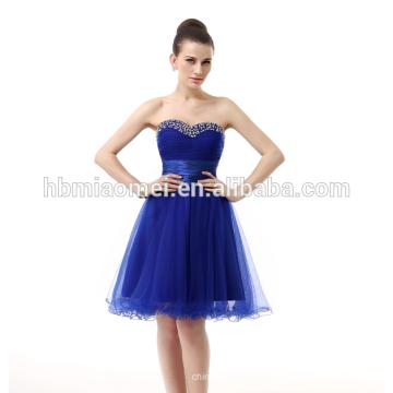 Les achats en ligne femmes portent des vêtements de jupe courte robe de soirée bleu royal mariée élégante robe de soirée coréenne