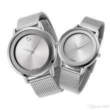 Batterie mit Edelstahl Armbanduhr