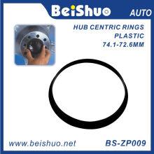 Anel de centro de hub de roda de cor preta