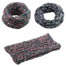 Женские унисекс шею теплым галантерейных толстый зимний трикотажные петли шарф Снуд (SK149)