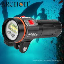 """Lumière vidéo subaquatique de 2600 lumens LED Dive Light avec support de montage de 1 """"Ball Arm"""