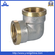 Raccord de tuyau coudé en laiton à deux couleurs (YD-6029)
