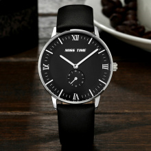 Sapphire Glass Genuine Leather Quartz Watch For Men