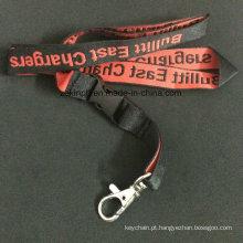 Corda macia feita sob encomenda com os lados dobro que costuram o logotipo para a promoção