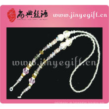 Spring Wholesale Crystal Perlen Herzförmige Gläser Lanyard