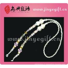 Longe en cristal en forme de coeur en forme de coeur perles en gros