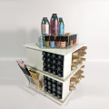 Spinning Counter Vit Kosmetisk Makeup Organizer