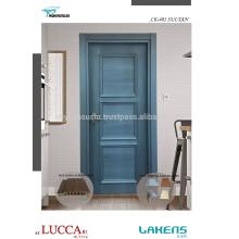 Natural Veneer Dark Blue Patina Luxury Molded Interior Door