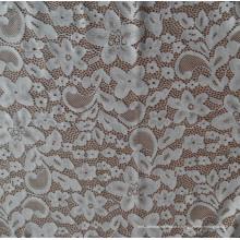 Tissu blanc en dentelle spandex