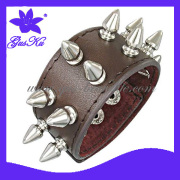 2014 Gus-Lb-085 Hot and Novel Leather Watch Band Jewelry for Man with Metal Parts