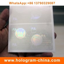 Transparent ID Card Hologram Overlay
